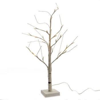 Image of Lumineo White/Warm White LED Outdoor Birch Tree - 180cm (499183)