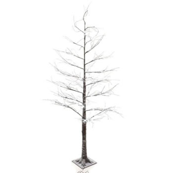 Image of Lumineo Green/Cool LED White Outdoor Christmas Tree with Snow - 180cm (499332)