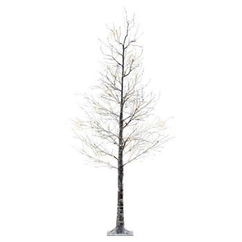 Image of Lumineo Green/Warm White LED Outdoor Christmas Tree with Snow - 120cm (499334)