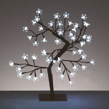 Image of Premier 45cm Cherry Tree with 48 White LEDs (LV45CHW)