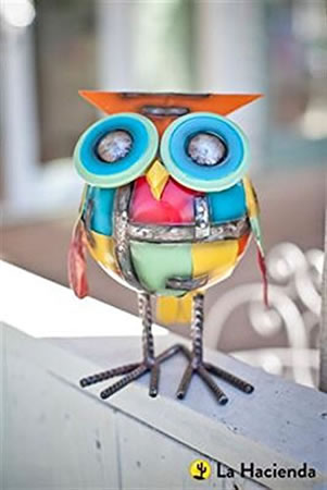 Image of La Hacienda Chubby Owl Garden Decorative Animal Owl Ornament