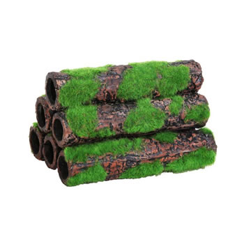 Image of Betta Ceramic Bamboo - 6 Small Tubes