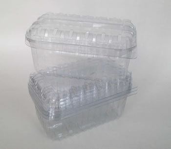 Image of 100 Nutley's 250g Clear Fruit Punnet Containers Recyclable With Lid