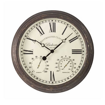 Image of Bickerton Outdoor Wall Clock And Thermometer