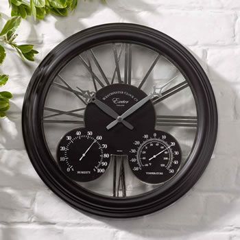Image of Exeter Black Wall Clock