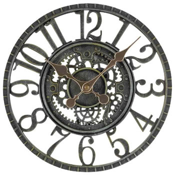Image of Newby Mechanical Verdigris Garden Clock