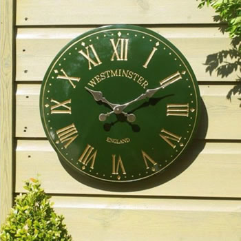 Image of Westminster Tower Clock in green