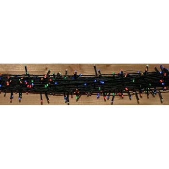 Image of Festive 'Look No Plug' 100 Multicoloured Multi Functional LED Christmas Lights (P003289)