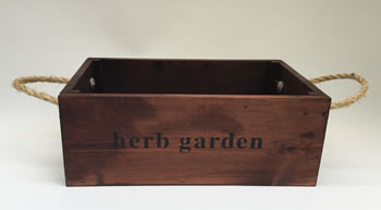 Image of Nutley's Large Oak Hand Made Bushel Box Herb Garden Rustic