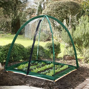 Image of Popadome All-in-One Fruit and Vegetable Net Protection System 4 x 4ft