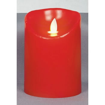 Image of Premier Decorations 13cm Dancing Flame Red Candle with Timer (LB122452R)