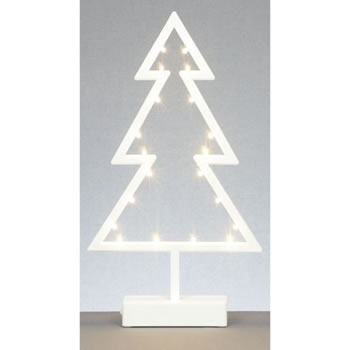 Image of Premier Decorations 39cm White Xmas Tree Lights with 20 Warm White LEDs (LB141413)