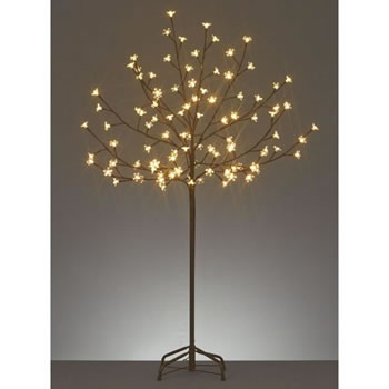 Image of Premier Decorations 1.2m Cherry Tree with 100 Warm White LEDs (LV141267WW)