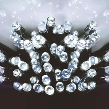 Image of Premier Decorations 960 White LED Multi-Action Supabrights (LV141744W)