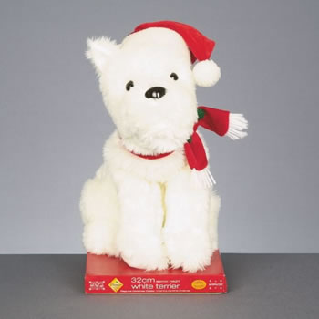 Image of Premier Animated White Terrier Dreaming of a White Christmas (MB081439)