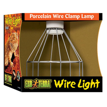 Image of Exo Terra Wire Porcelain Wire Clamp Lamp Small