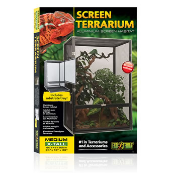 Image of Exo Terra Screen Terrarium Medium Extra Tall