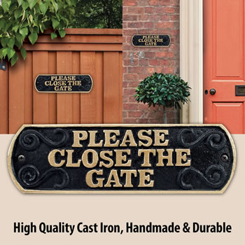 Image of Please Close The Gate Cast Iron Landscape