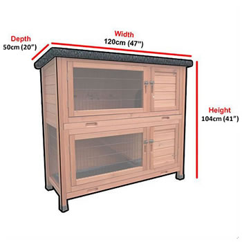 Extra image of RHL Rabbit Hutch & Run