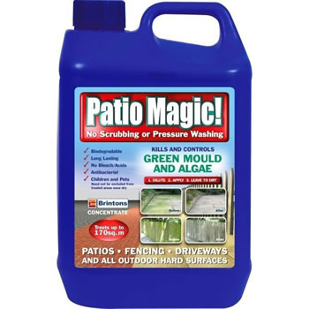 Image of Patio Magic! 5L Liquid Concentrate Mould, Algae and Moss Killer (016492)