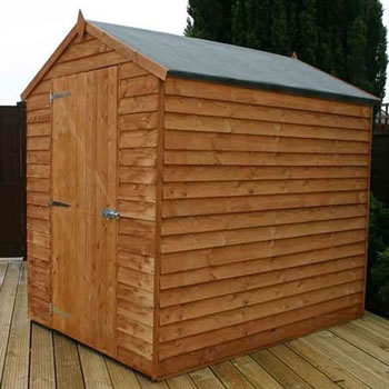 Image of 7 x 5 Windowless Overlap Apex Wooden Garden Shed
