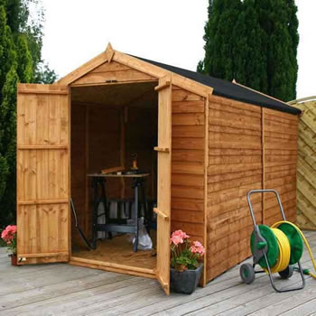 Image of 10 x 6 Windowless Overlap Apex Wooden  Garden Shed