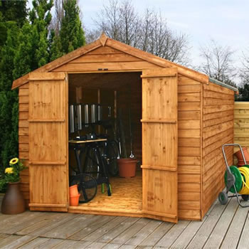 Image of 12 x 8 Windowless Overlap Apex Wooden Garden Shed