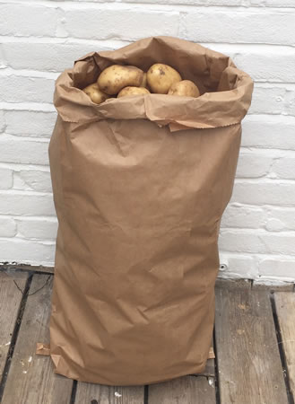 Image of 5 x Nutley's 25kg Paper Potato Sacks Harvest Store Vegetables