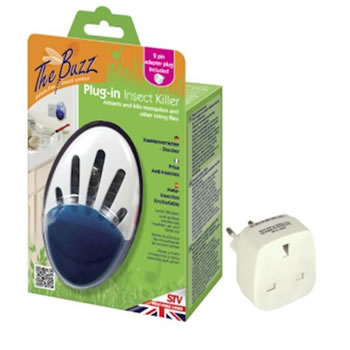 Image of STV Pest Control - Insect Direct Plug-In Insect Killer with 2 Pin Travel Adaptor (STV Pest Control -733)