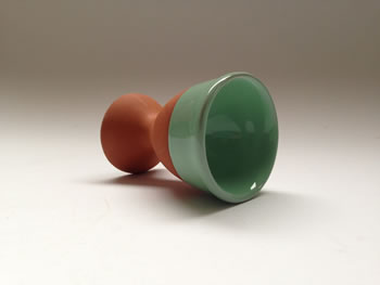 Extra image of Set of 2 Eddingtons Sage Terracotta Egg Cups