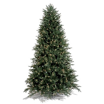 Image of Tree Classics 2.7m (9ft) Lake Shore Blue Spruce Pre-Lit Artificial Christmas Tree (90-4876-963L)
