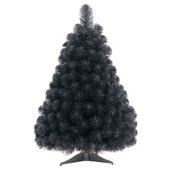 Image of Tree Classics 60cm Black Artificial Christmas Table Tree (24-72-308)