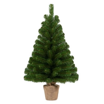 Image of Tree Classics 60cm Green Burlap Artificial Christmas Table Tree (24-72-BLP)