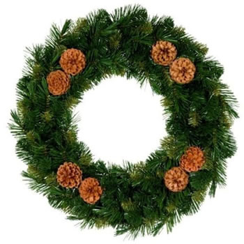 Image of Tree Classics 35cm Green Mixed Pine Wreath (714-75-488)