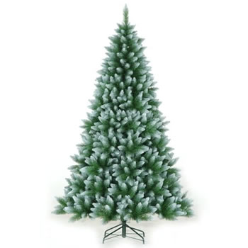 Image of Tree Classics 2.1m (7ft) Green Frosted Allison Spruce Artificial Christmas Tree (84-754-421F)