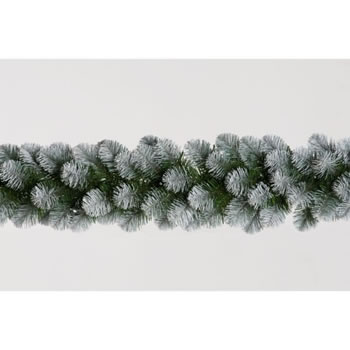 Image of Tree Classics 2.7m x 30cm Green Frosted Alaskan Garland (912-210-850F)