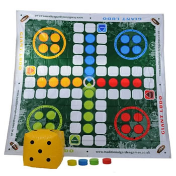 Image of Traditional Garden Games Giant Ludo (058)