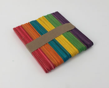 Image of 100 x Nutley's Coloured Wooden Seedling Labels Rainbow Mix
