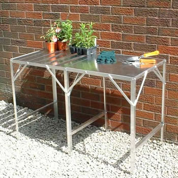 Image of Greenhouse Benching Single Tier 117cm x 76cm - Slatted Surface