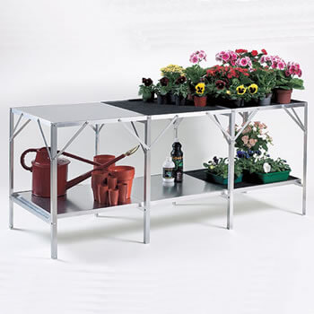 Image of Greenhouse Benching Two Tier 287cm long x 46cm wide - Slatted Surface