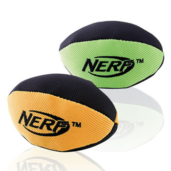 Image of Nerf Dog Trackshot Squeaker American Football 13cm