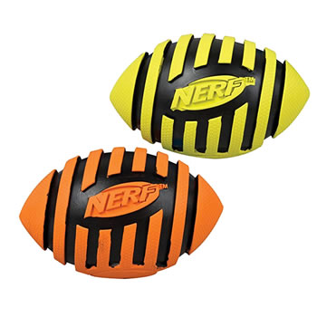 Image of Nerf Dog Spiral Squeak American Football 13cm