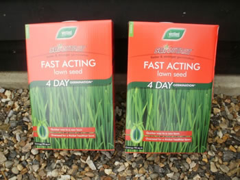 Image of Box of Westland Fast Acting Sirestart Lawn grass Seed - 90 sqm