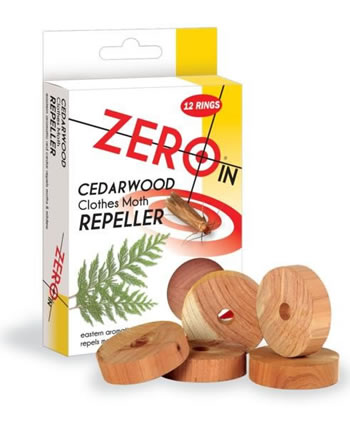 Image of STV Pest Control - Cedarwood Clothes Moth Repeller 12 Rings (ZER035)