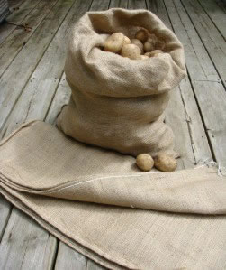 Image of 5 Extra Large Hessian Potato Sacks 66 x 115cm