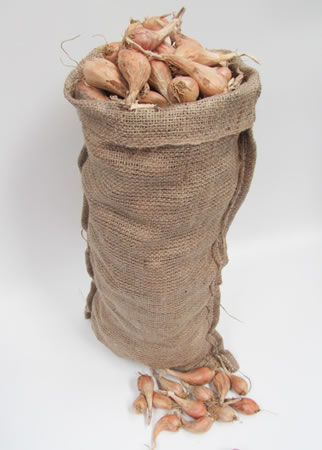 Image of 10 Hessian Sack Potato, Onion, Vegetable Storage Bags 30cm x 60cm