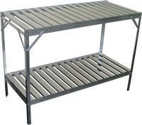 Image of Simplicity Aluminium slatted 2 Tier 20in wide 47in long
