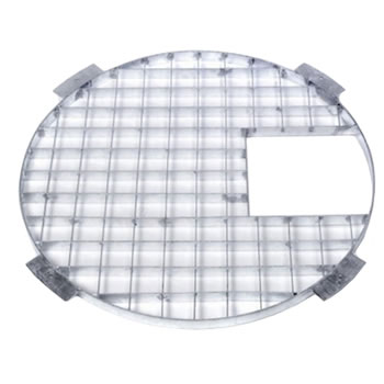 Image of Apollo Round Galvanised Steel Grid 90cm Dia