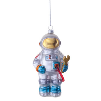 Image of Buzz the Astronaut Novelty Glass Christmas Tree Bauble Decoration
