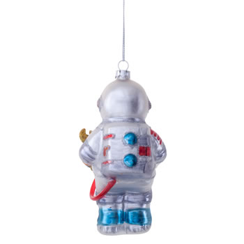 Extra image of Buzz the Astronaut Novelty Glass Christmas Tree Bauble Decoration